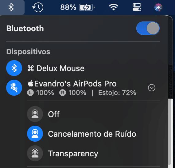AirPods Pro no macOS Big Sur
