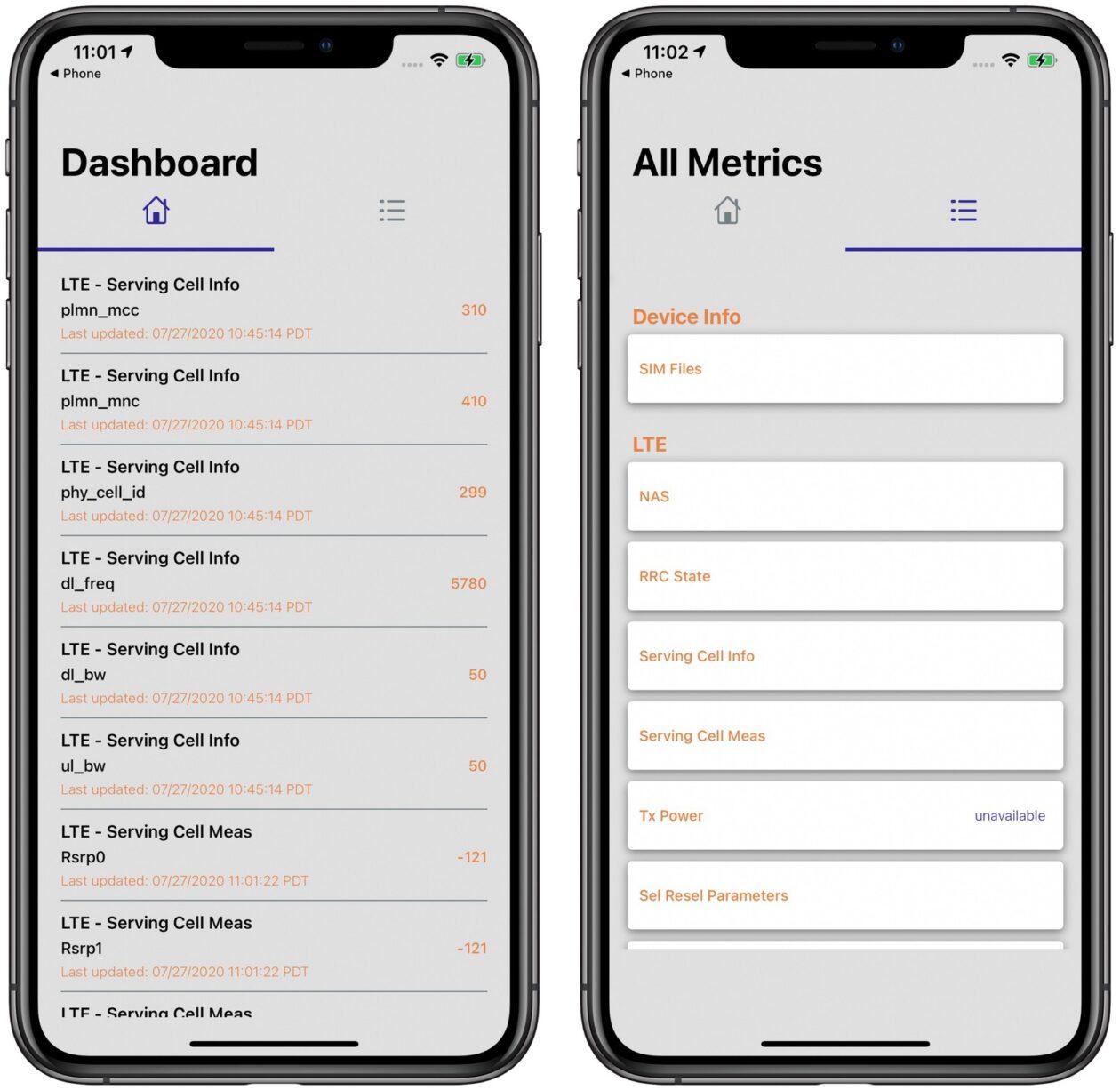 Field Test Mode no iOS 14