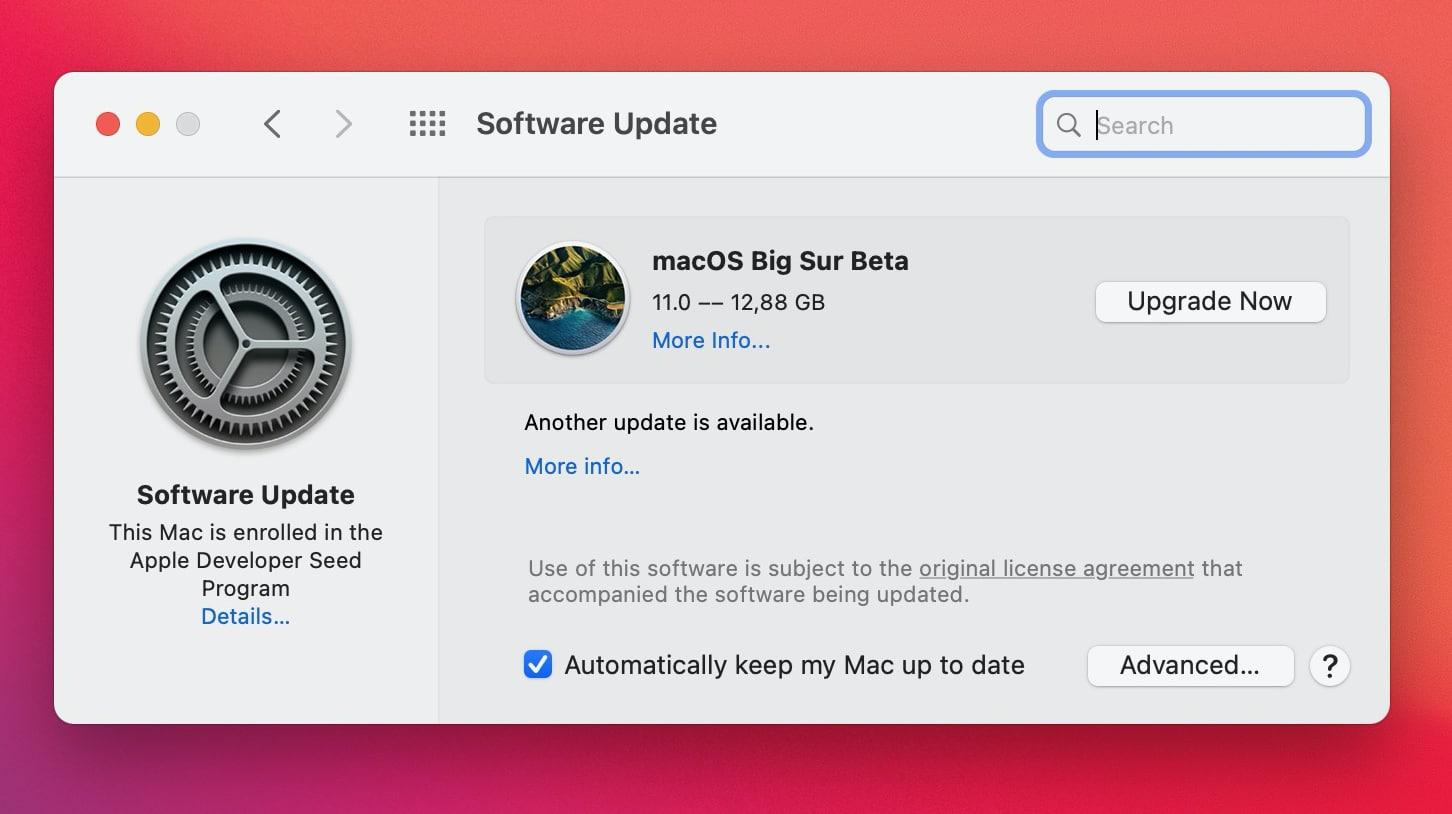 Instalador do macOS Big Sur
