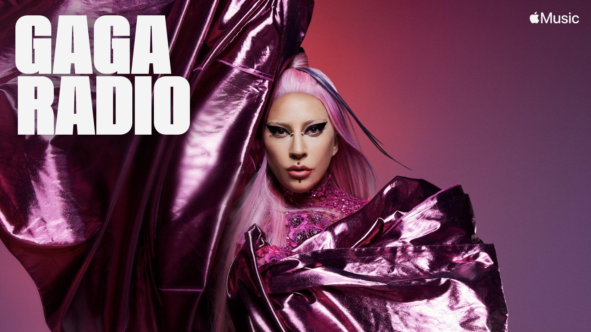 """Banner de divulgação do """"Gaga Radio"""""""