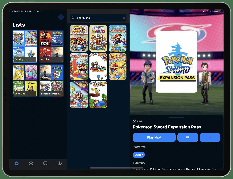 GameTrack no iPad