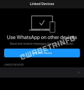 Sincronização de mensagens no WhatsApp