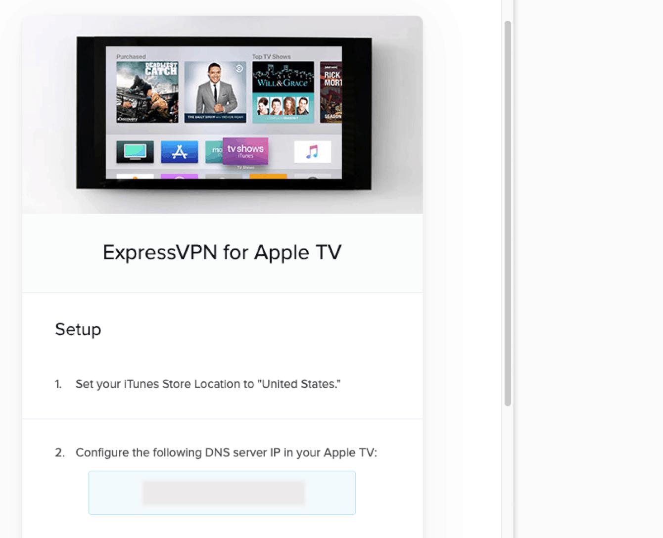 ExpressVPN na Apple TV