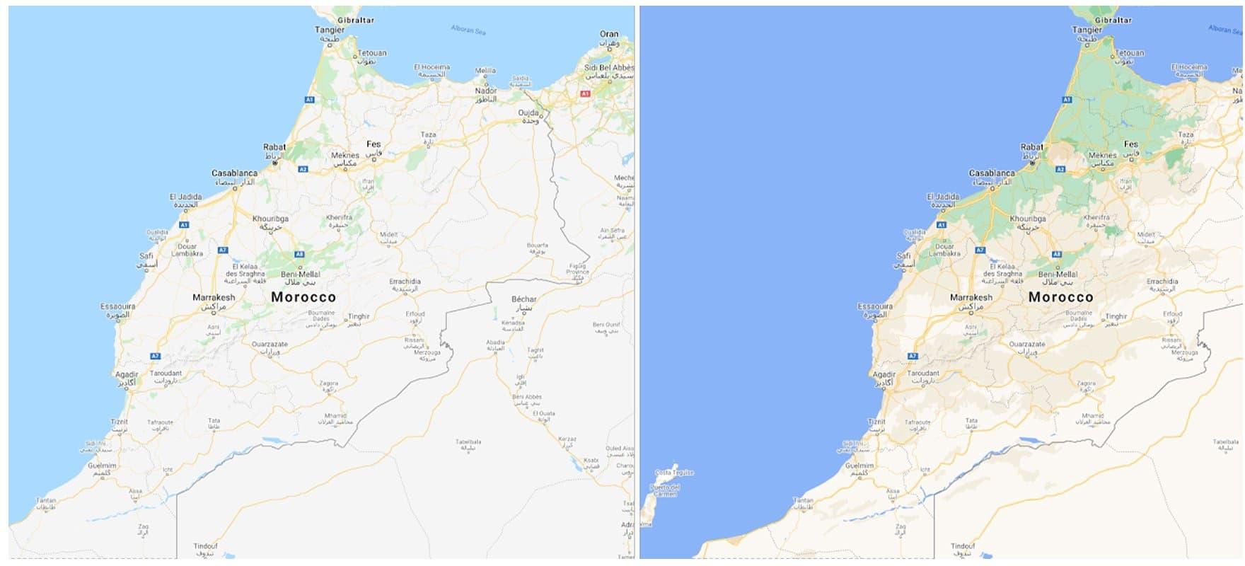 Novo visual do Google Maps