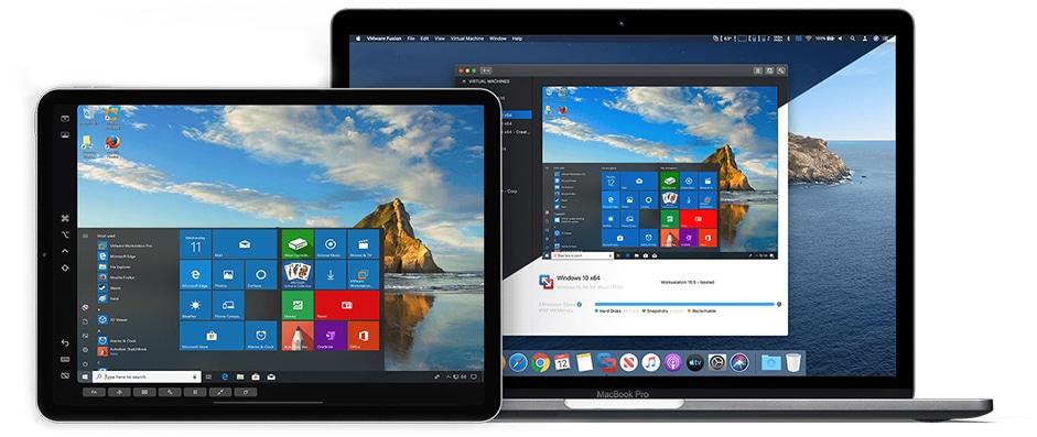 VMware Fusion no MacBook e iPad