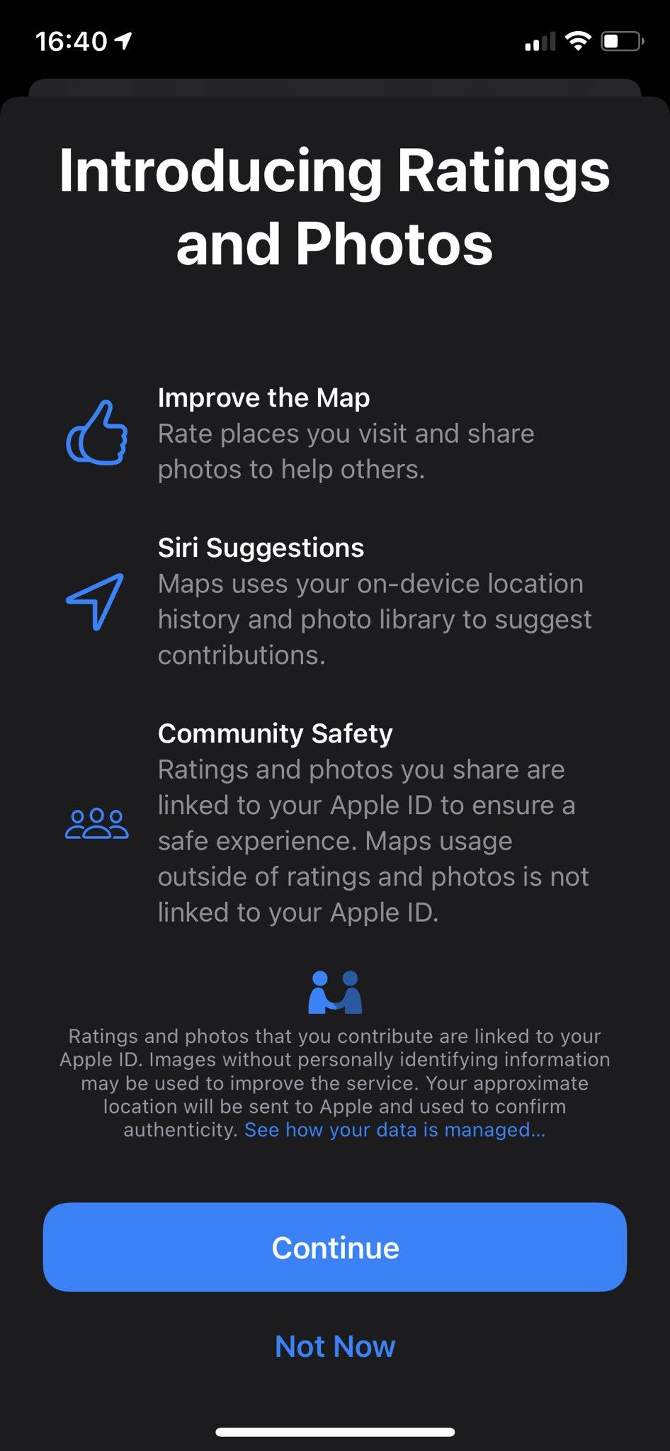 Mapas no iOS 14 beta 6