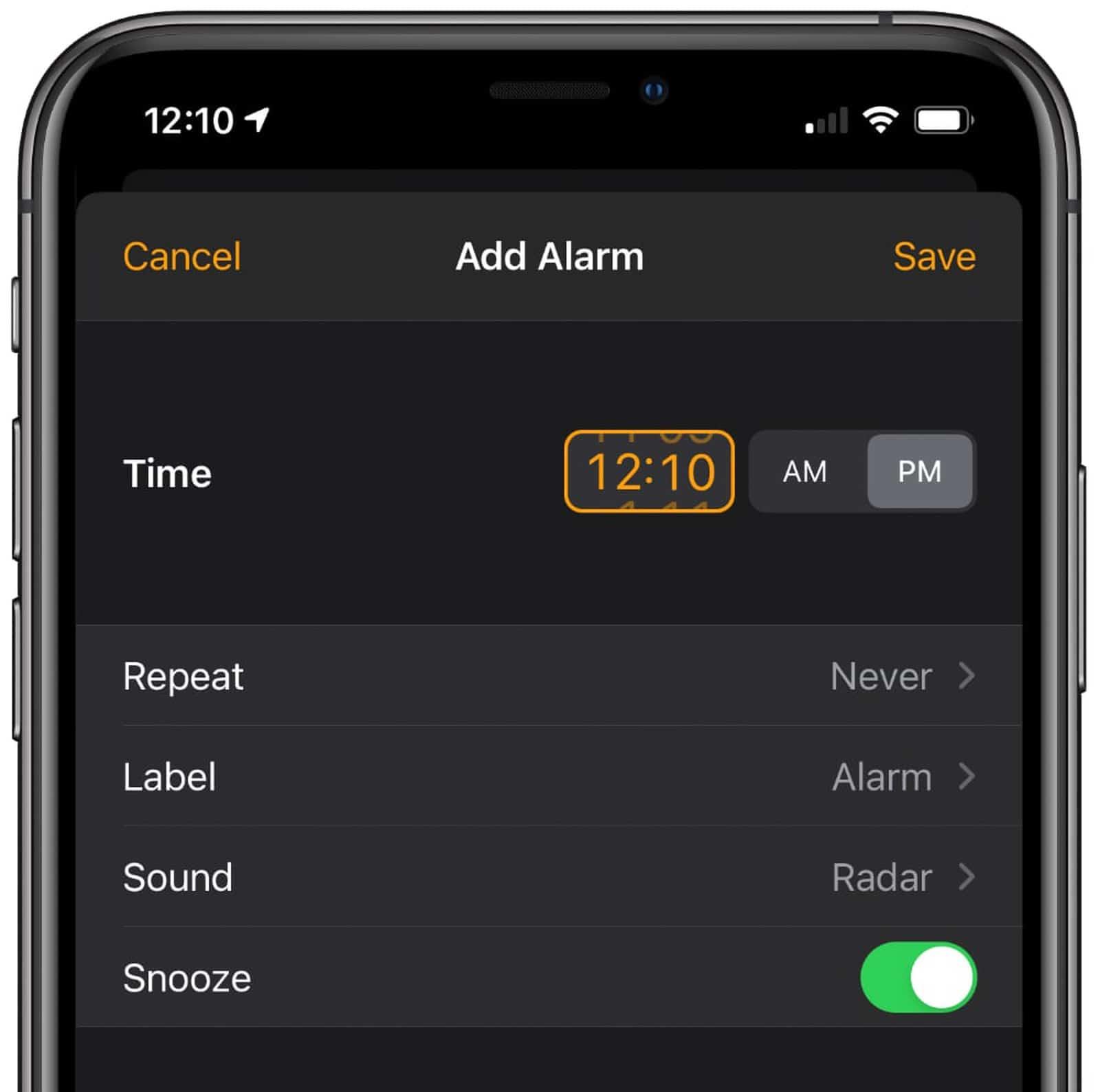 Seletor de números no iOS 14 beta 6
