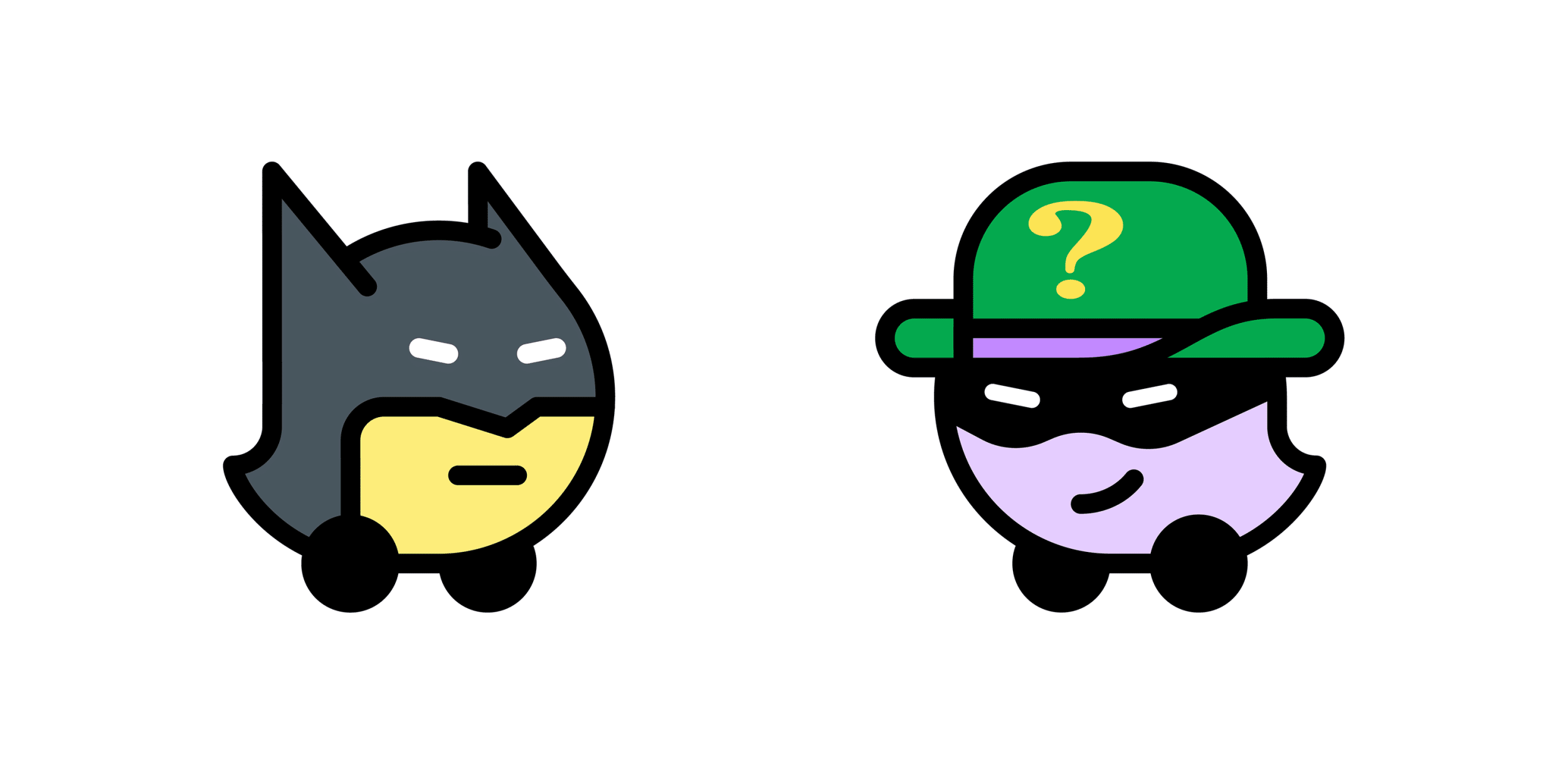 Batman e Charada no Waze