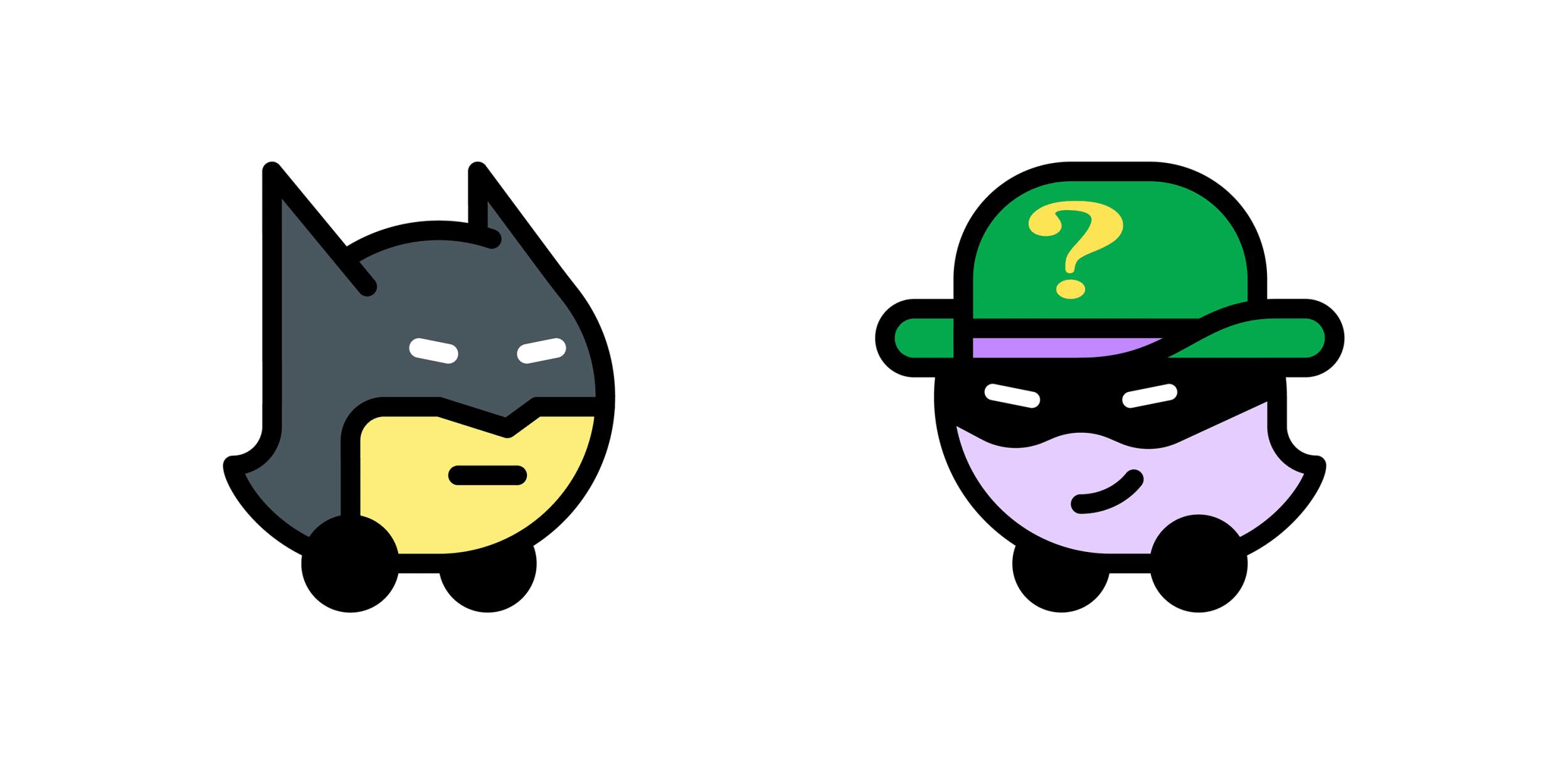 Batman e Charada no Waze