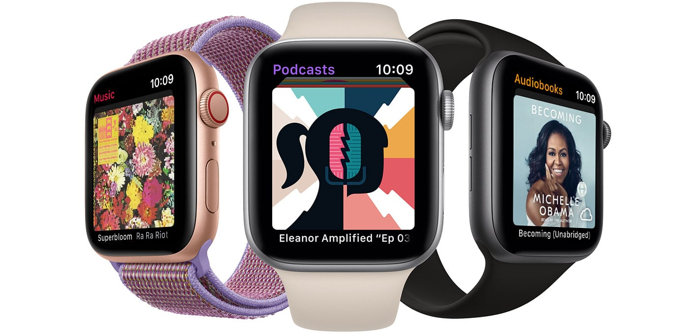 Podcasts no Apple Watch