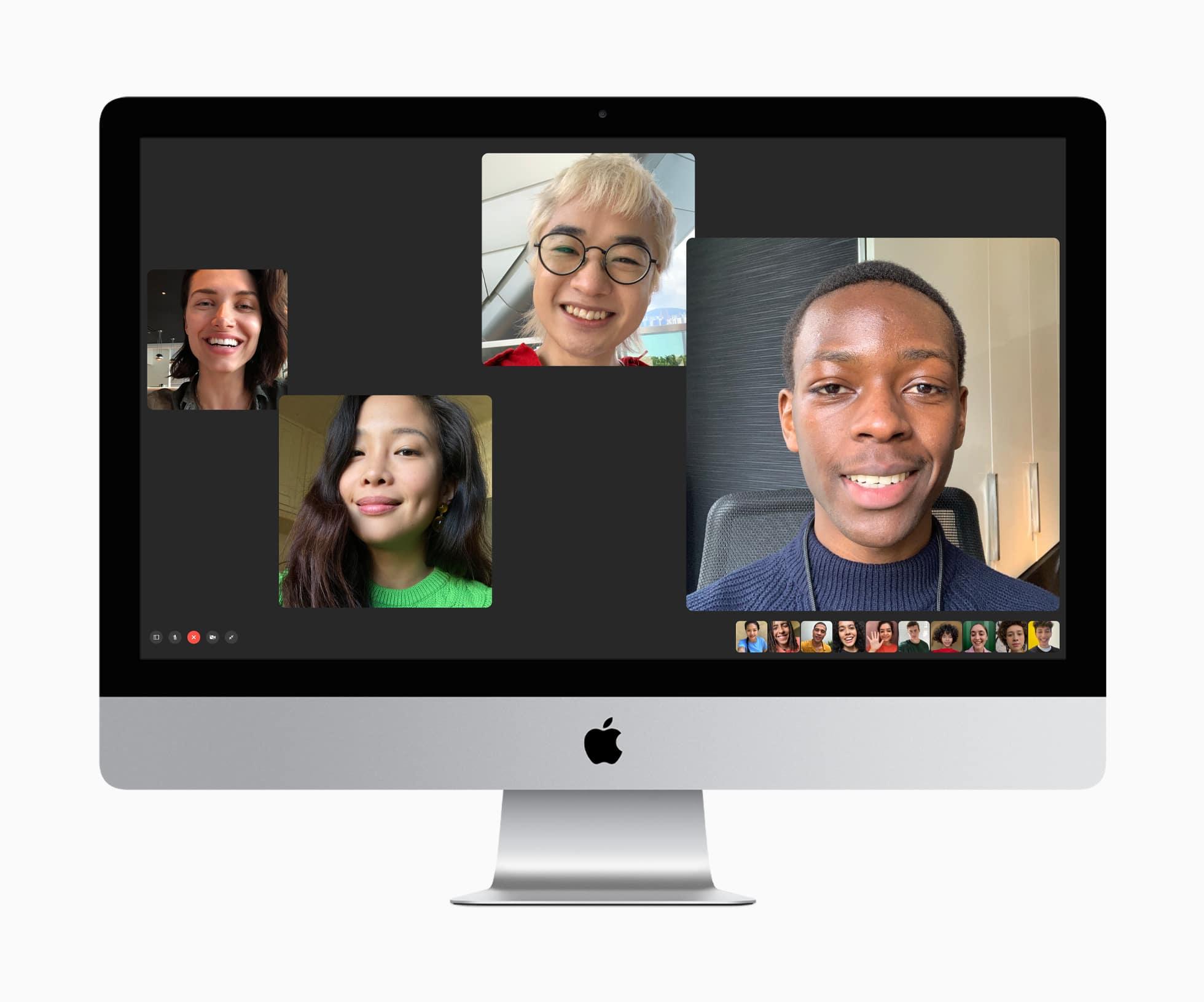 iMac rodando o FaceTime no macOS