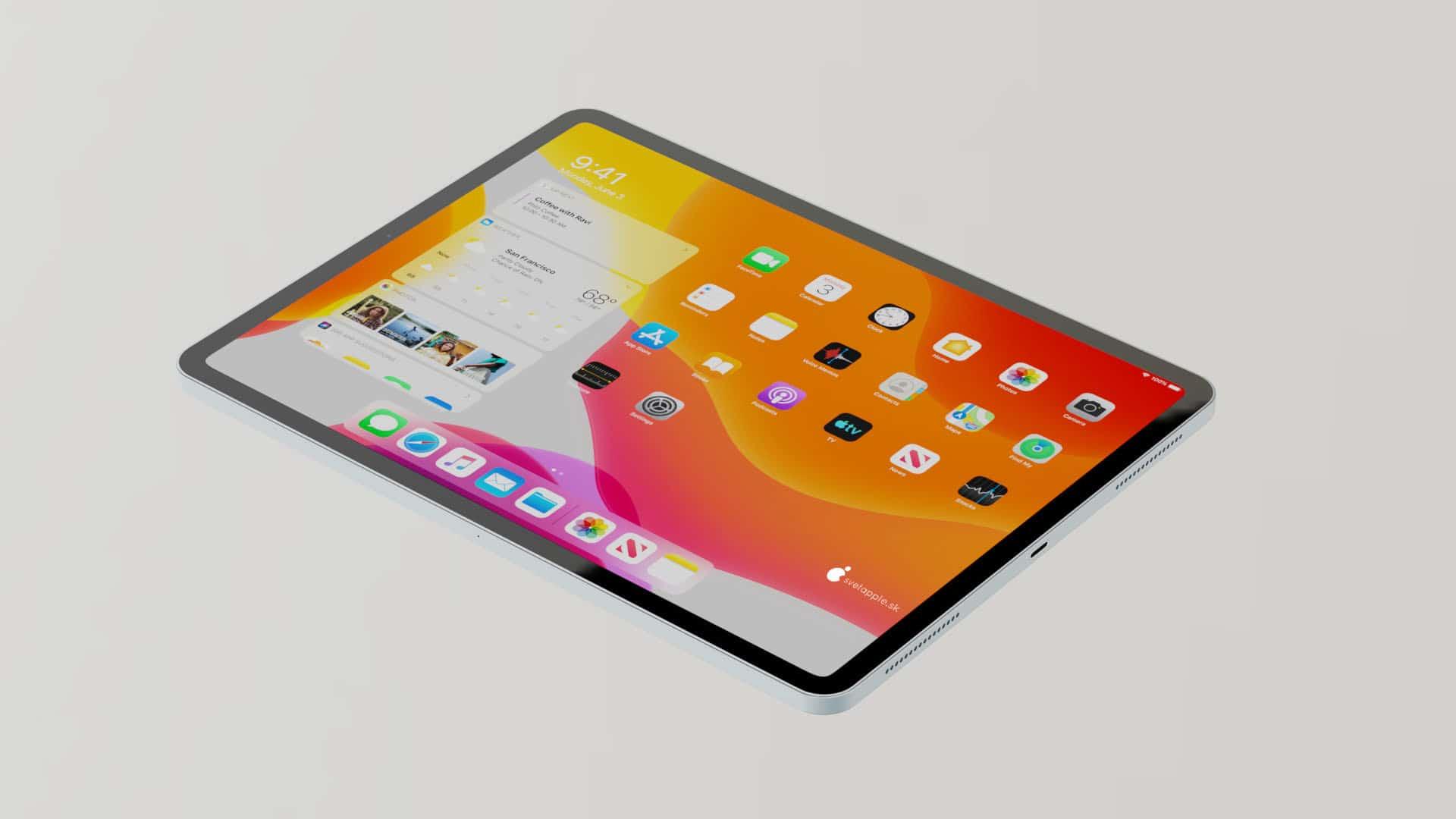 Conceito de novo iPad Air