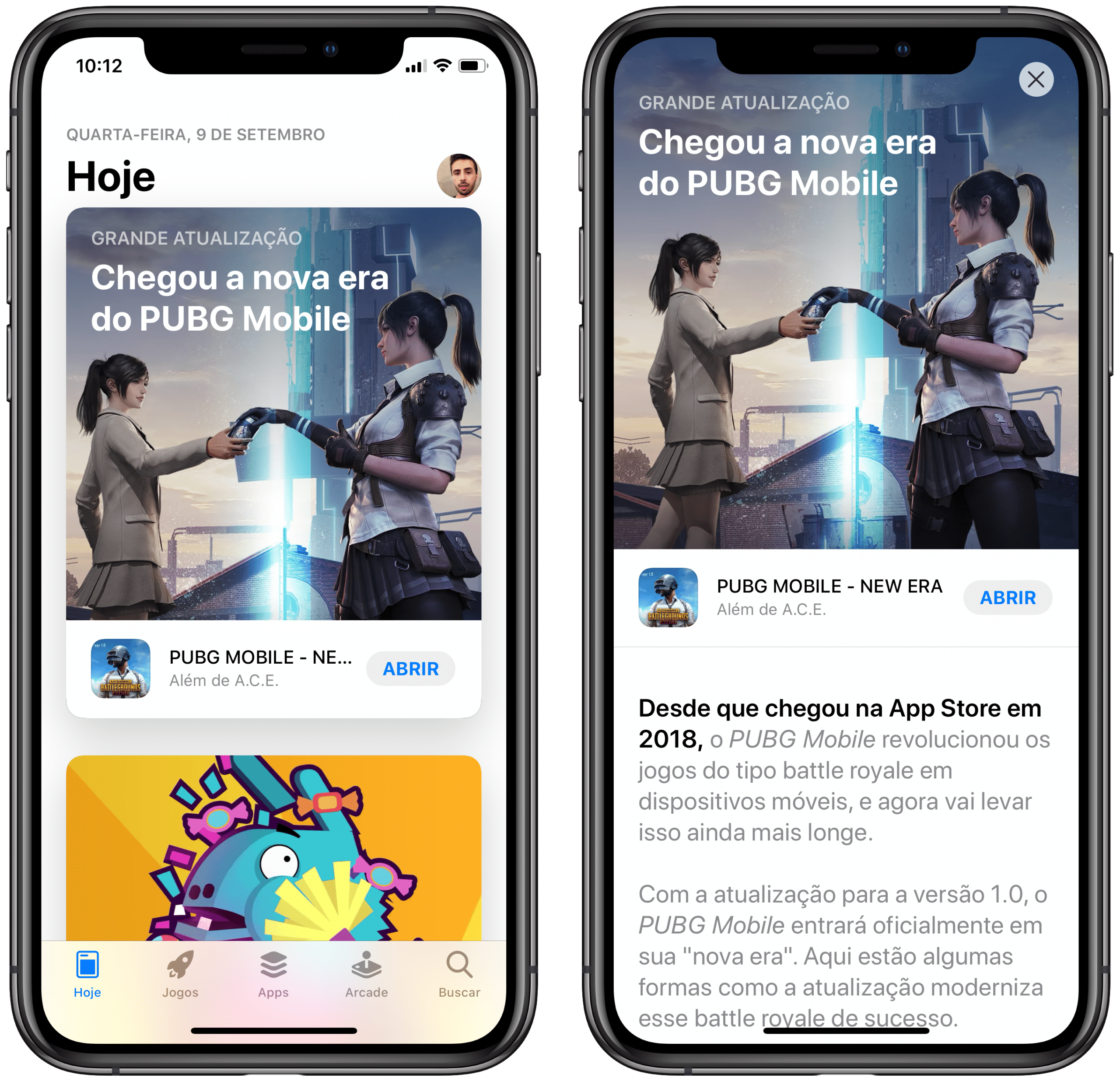 Editorial de PUBG Mobile na App Store