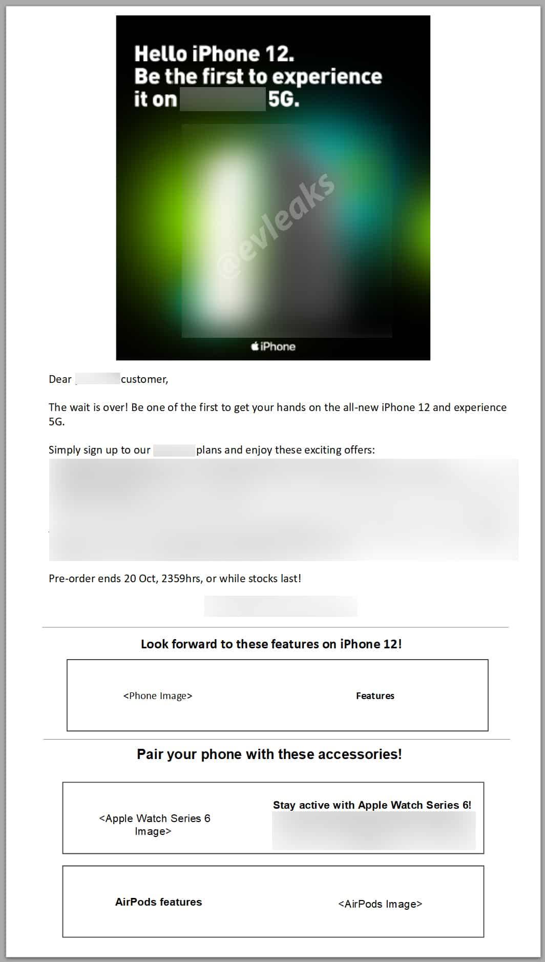 """Suposto email sobre vendas do """"iPhone 12"""""""