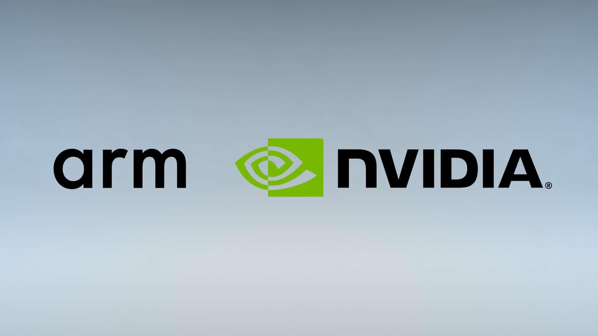 Logos da ARM e da NVIDIA