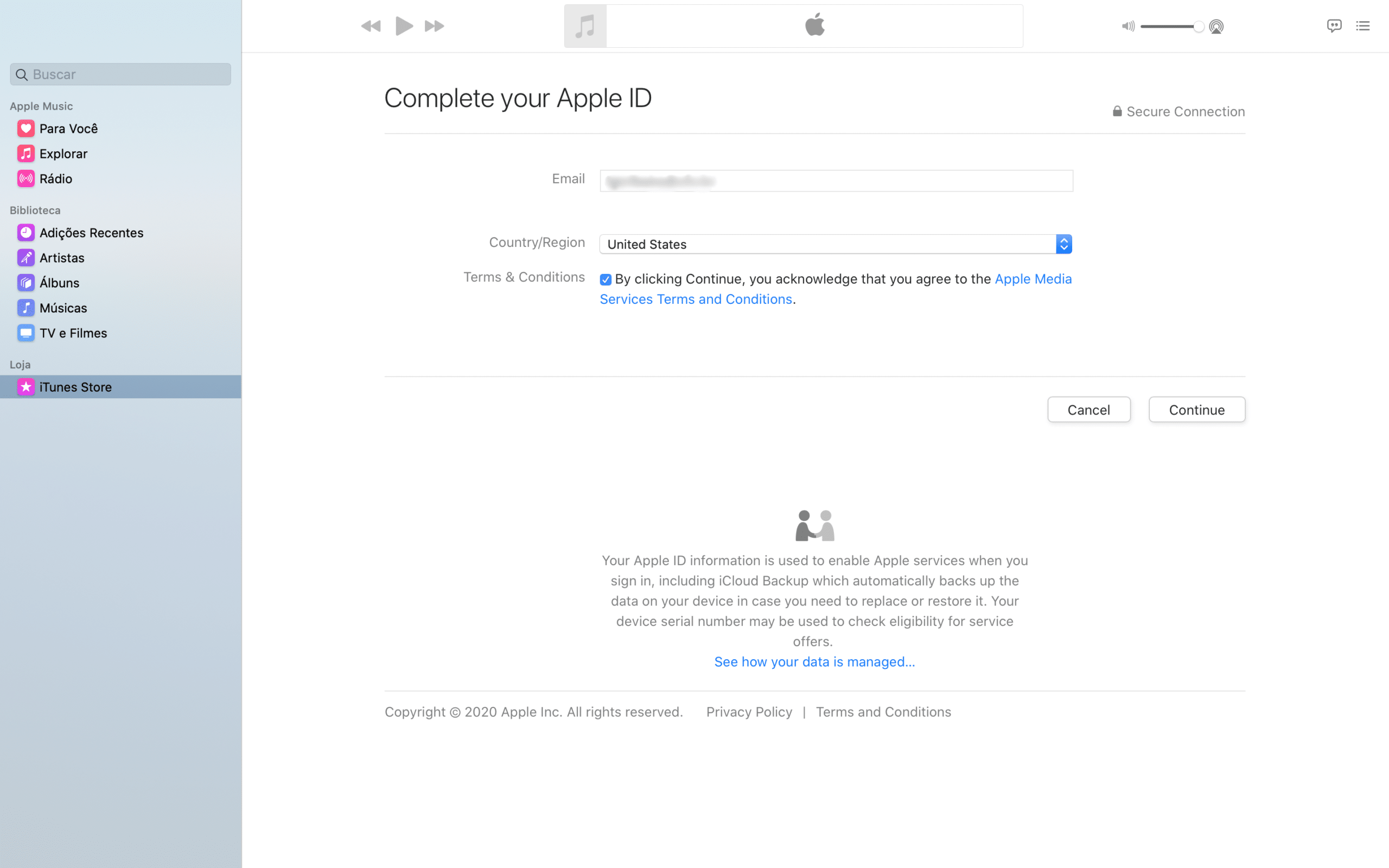 Completar ID Apple