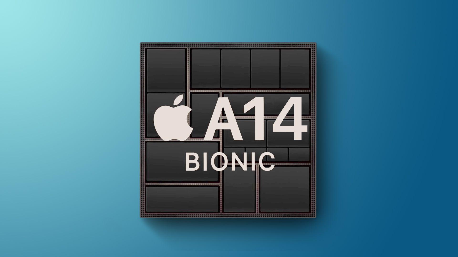 Ilustração do chip A14 Bionic