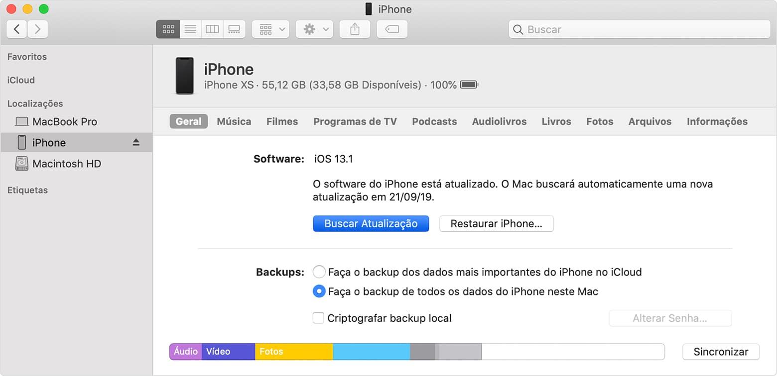 Instalando o iOS pelo macOS