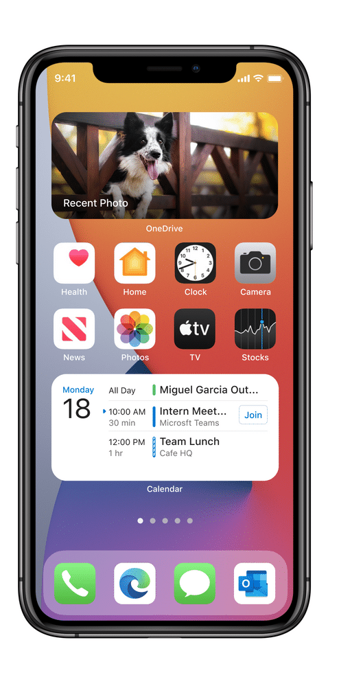 Widget do OneDrive no iOS 14