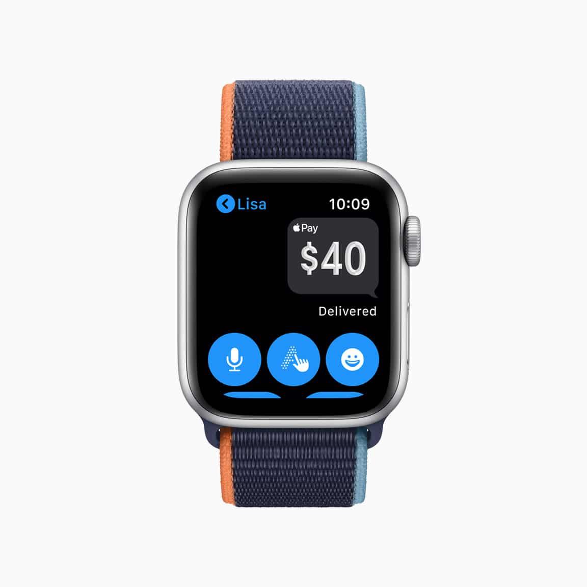 Apple Cash Family no Apple Watch