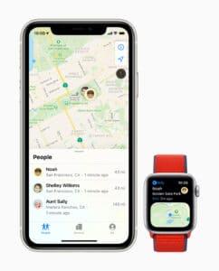 Configuração familiar no Apple Watch e iPhone