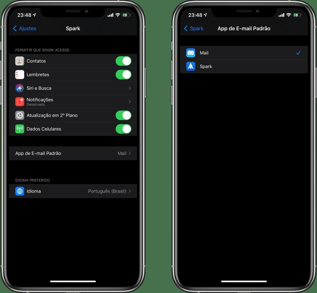 Atualização do Spark para o iOS/iPadOS 14