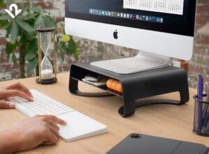 Curve Riser, suporte da Twelve South para iMac e Pro Display XDR