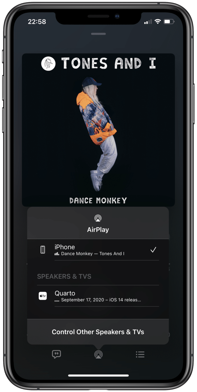 AirPlay no iOS 14.2