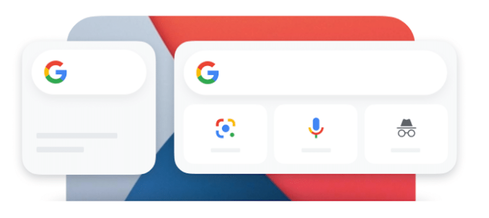 Ilustração de widget do Google