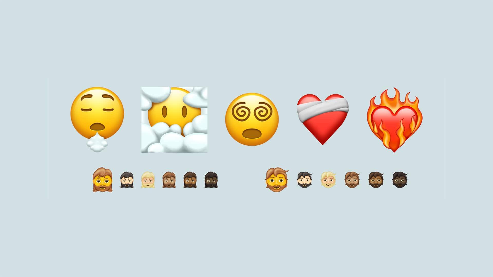 Novos emojis (Emoji 13.1)