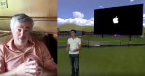 Eddy Cue participando de uma apresentação em vídeo de operadora parceira da Apple