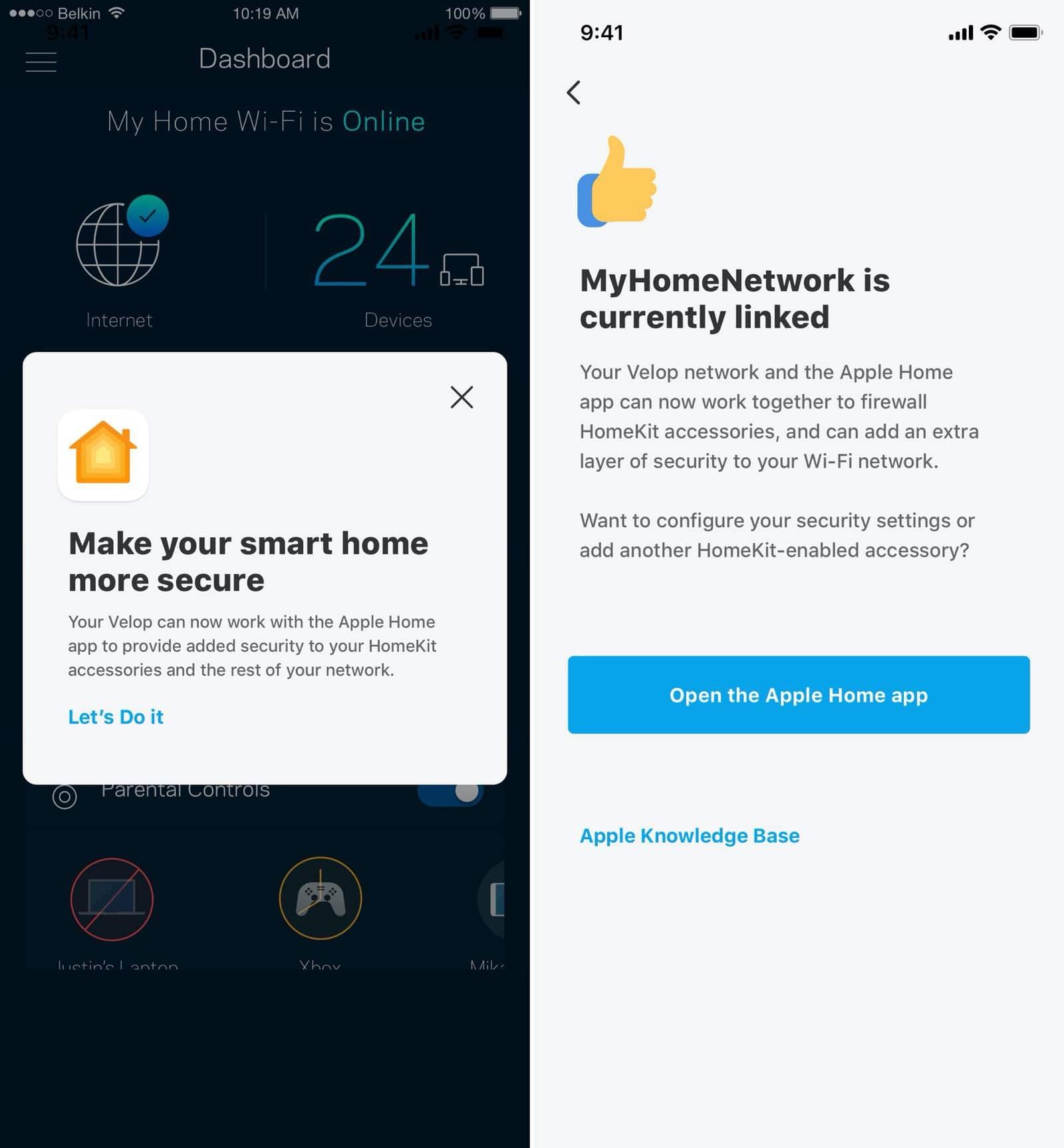 Roteadores da Linksys com suporte ao HomeKit