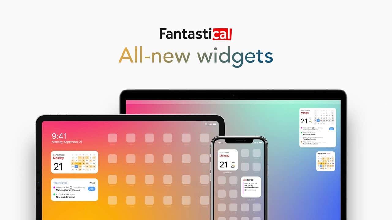 Fantastical ganha 12(!) widgets para o iOS 14