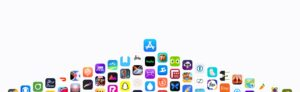 App Store e vários ícones de aplicativos