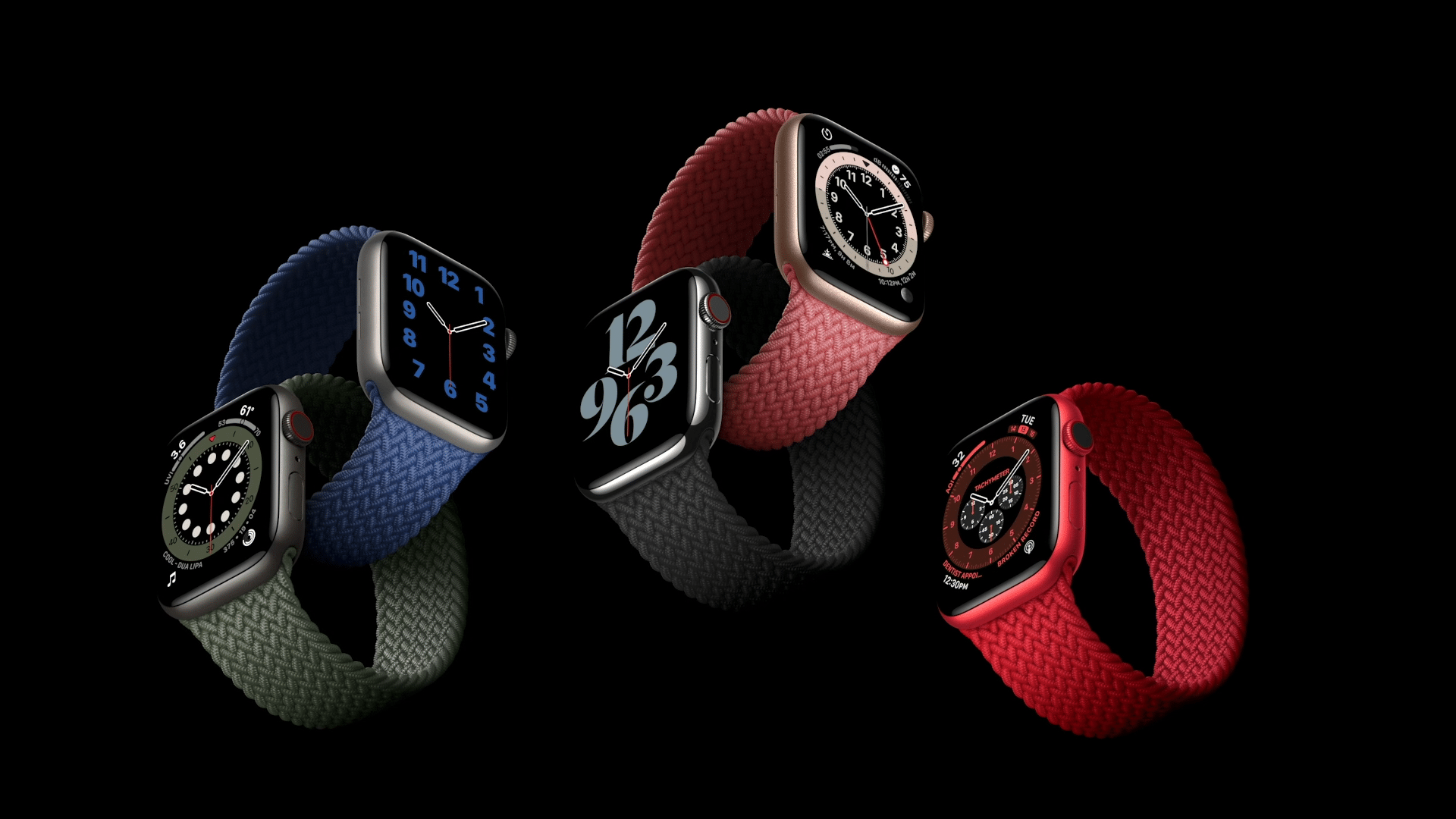 Pulseira loop solo trançada para Apple Watch