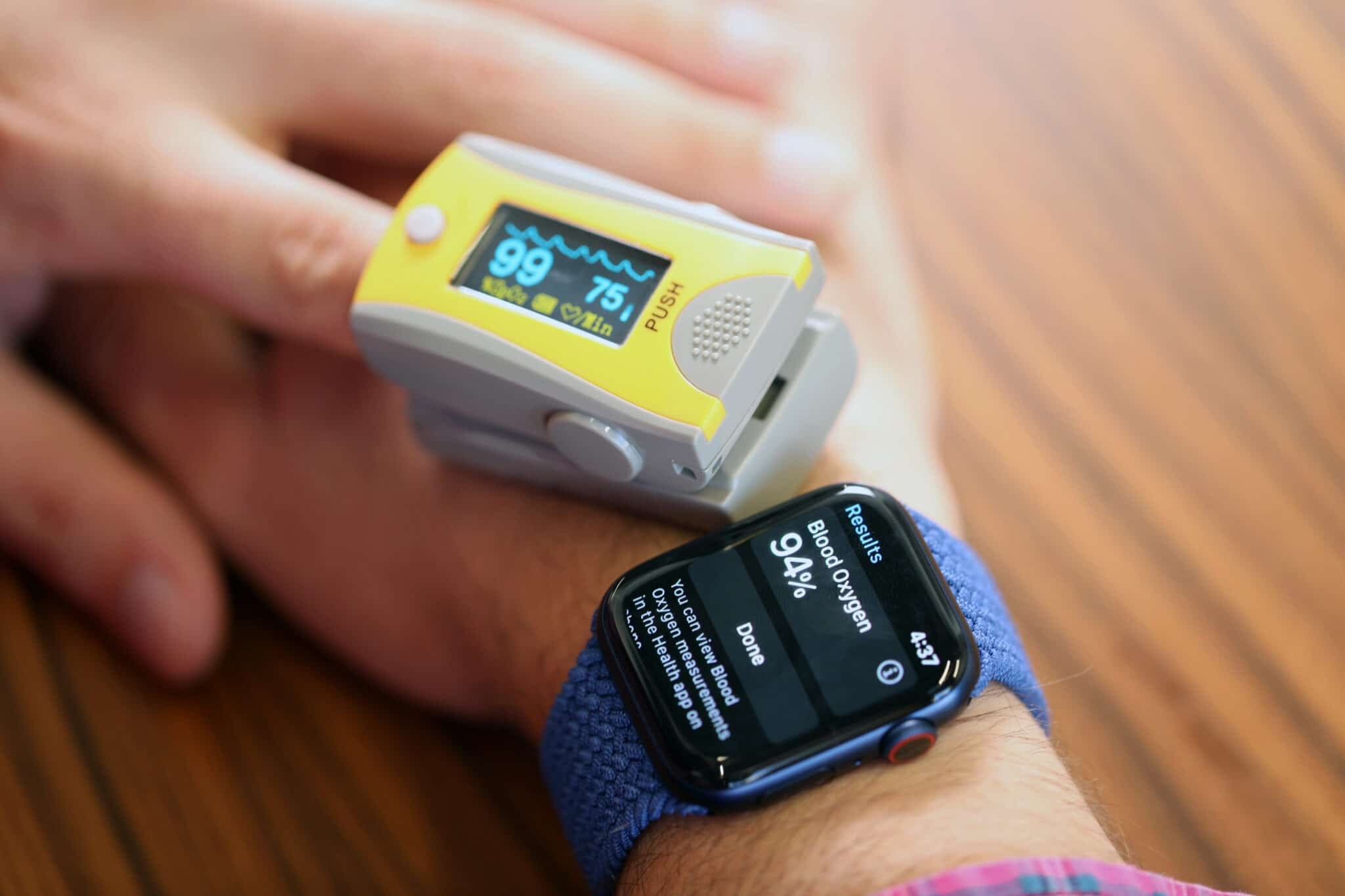 Oxímetro no Apple Watch Series 6
