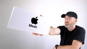 Unboxing das máscaras da Apple