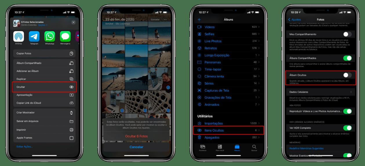 Fotos Ocultas no iOS 14
