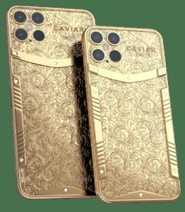 """Edição especial de ouro do """"iPhone 12 Pro"""" da Caviar"""