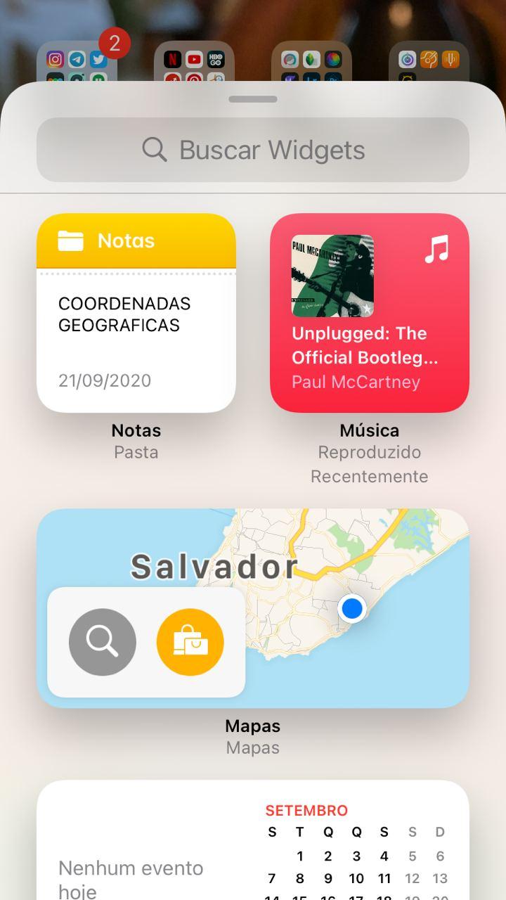 Widgets do iOS 14