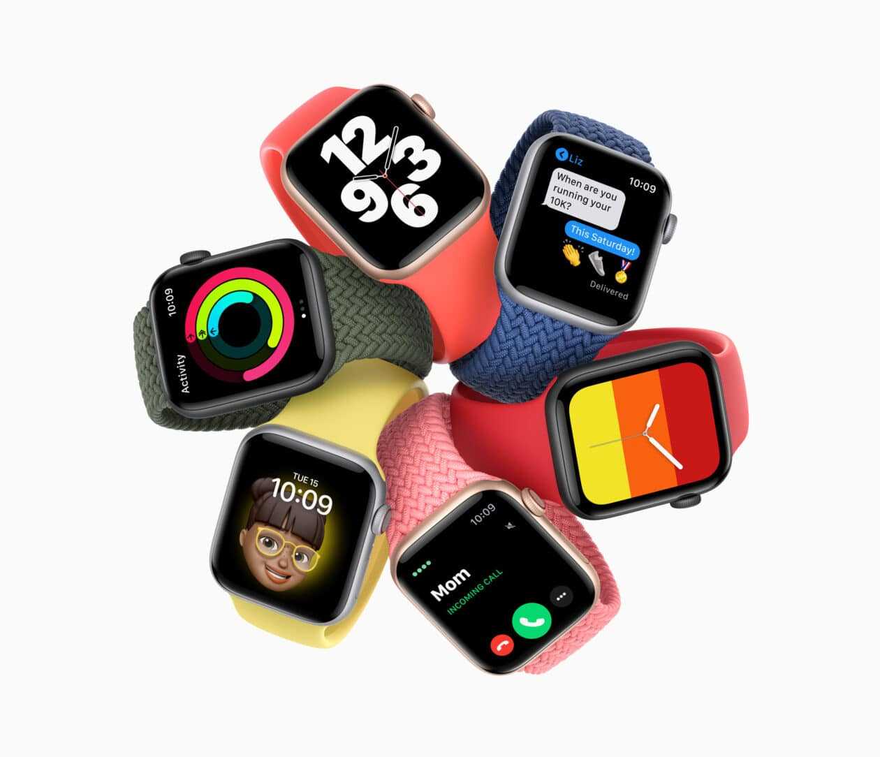 Apple Watches SE coloridos
