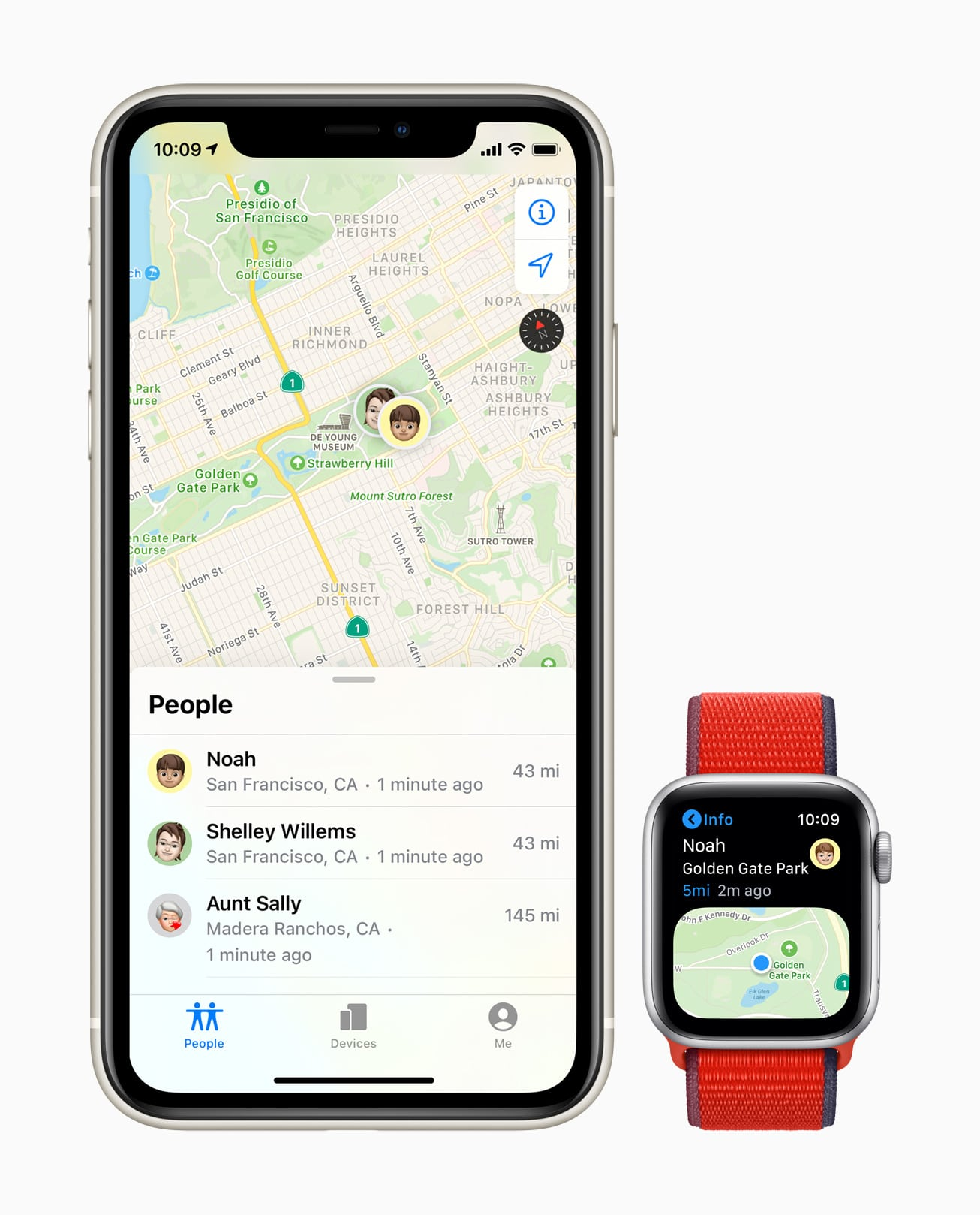 Buscar no Apple Watch SE e no iPhone 11
