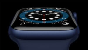 Apple Watch Series 6 de alumínio na cor azul
