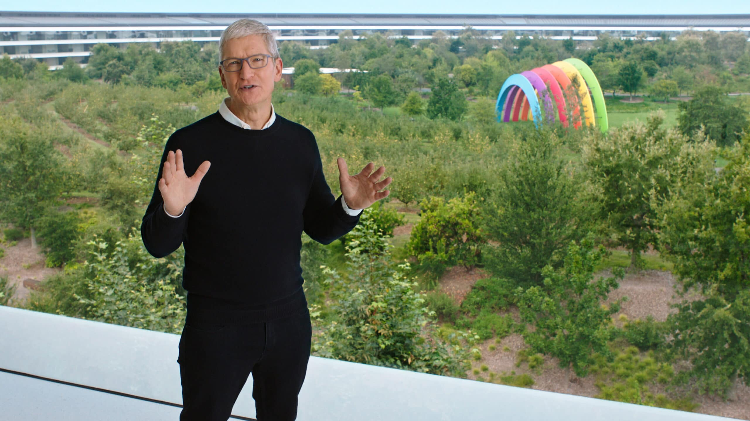 Tim Cook na keynote do evento especial de setembro de 2020