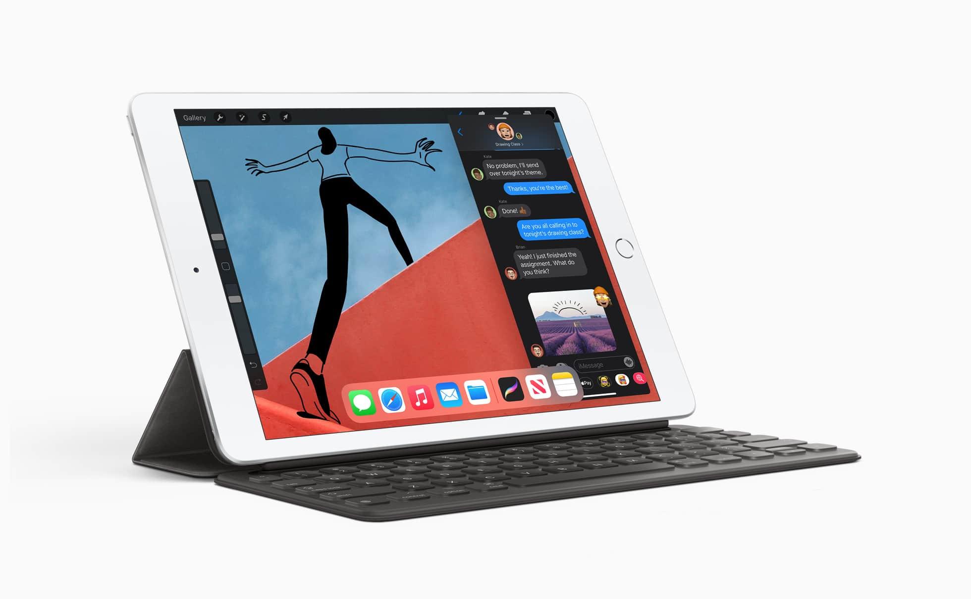 iPad de oitava geração com teclado