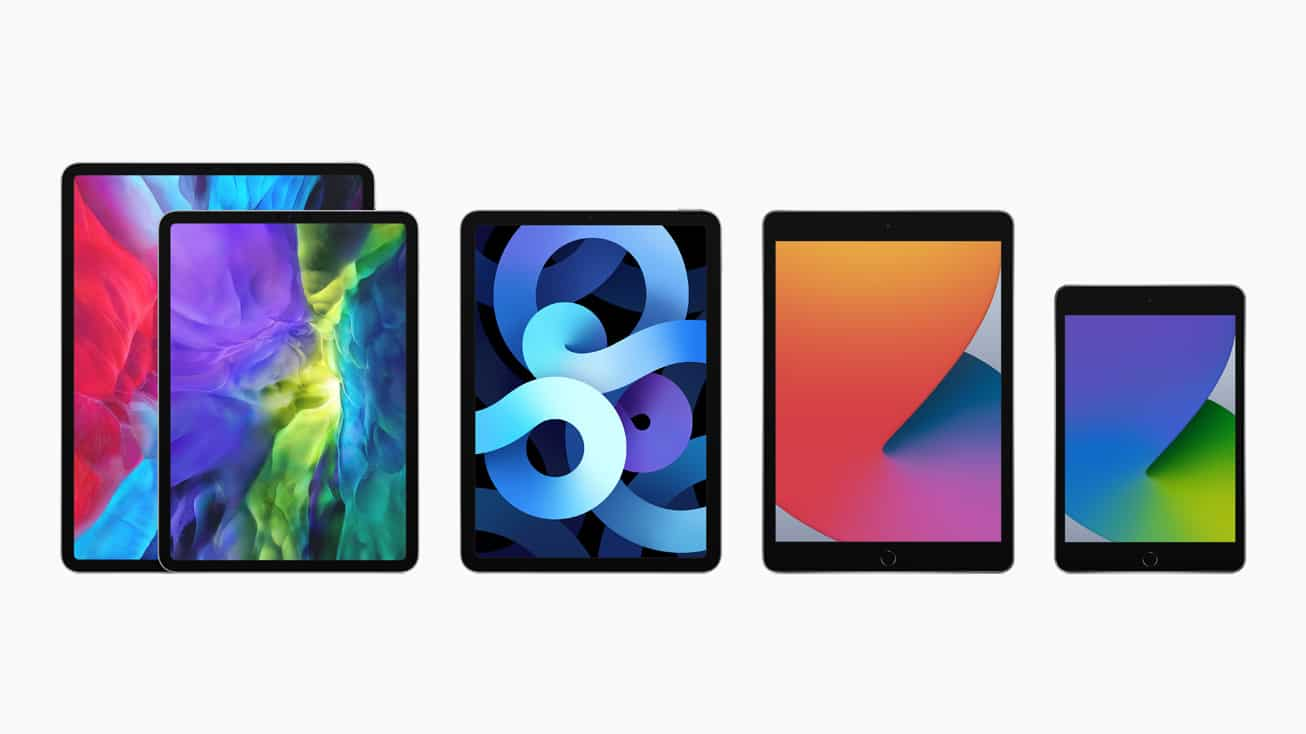 Família de iPads — Pro, Air, normal e mini