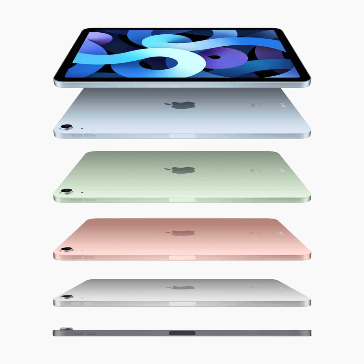 Todas as cores do novo iPad Air