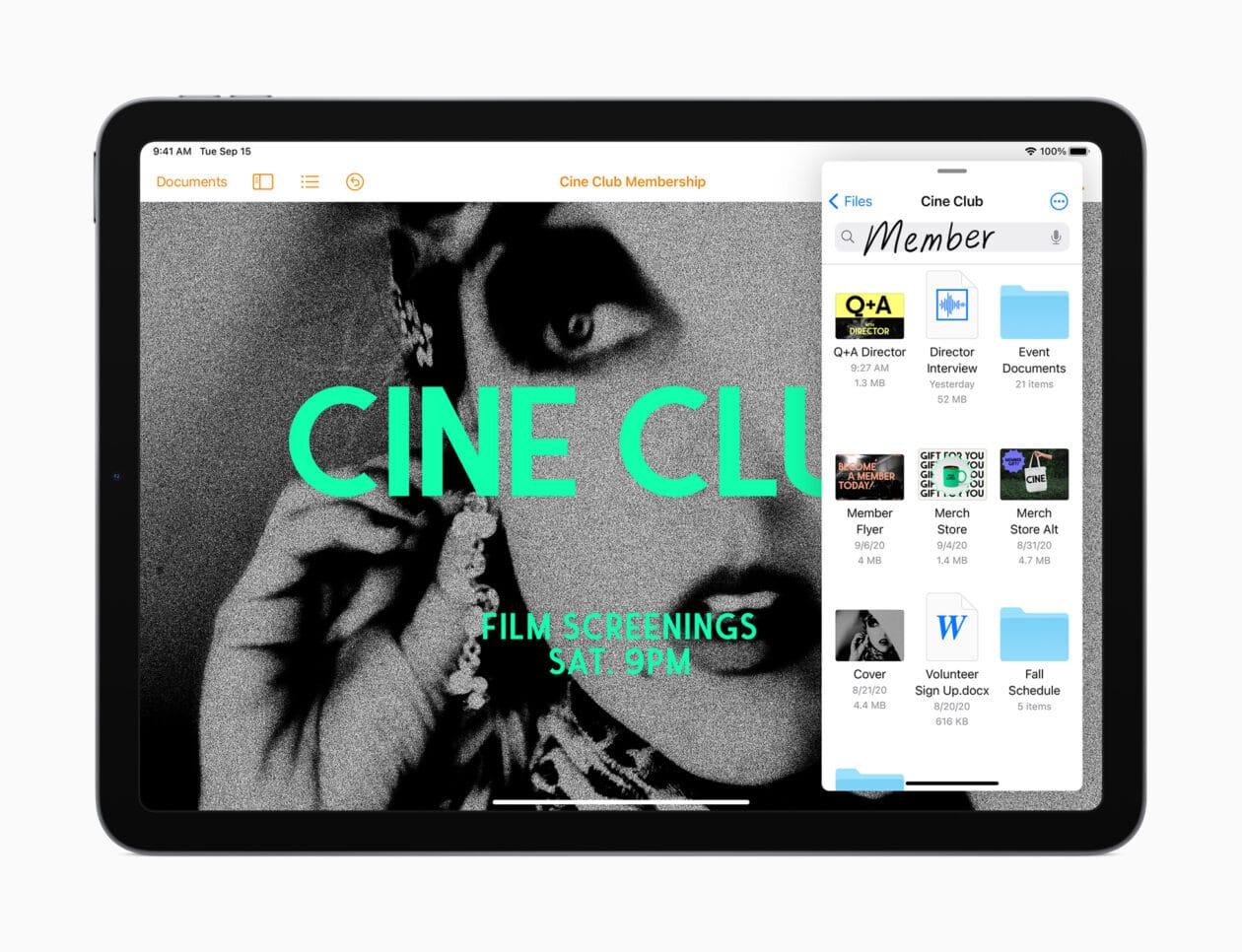 Busca no novo iPad Air