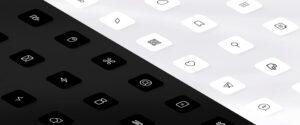 ícones personalizados do designer Traf