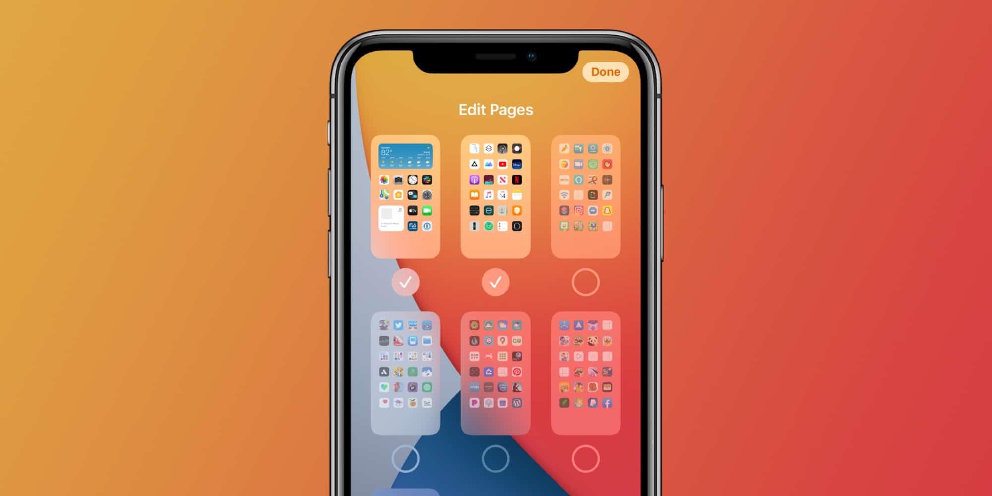 Páginas de apps no iOS 14